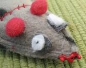 Grey Tiger Stripe Zombie Mouse Organic Catatonic Catnip Cat Toy