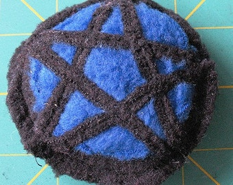 Kittys First Pentacle in Blue Organic Catatonic Catnip Cat Toy