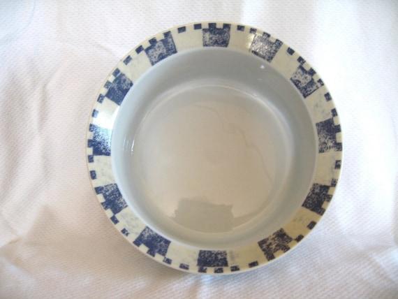 Dansk Checkar Blue Serving Bowl