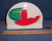 Watermelon Napkin Holder For Paper Napkins Made of Ceramic