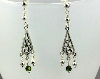 Olivine Swarovsky Earrings