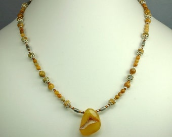 Golden Drusy Necklace