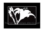 Original Wild Tiger Lilies Scherenschnitte Papercutting - Spring Blossoms Collection