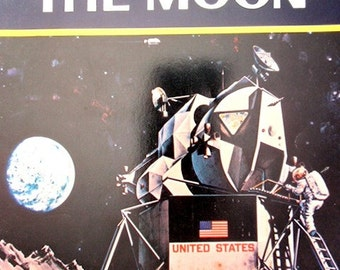 1960s, Moon Book Collectible, 1st edition, 1969 Conquest of the Moon, historical book, children book