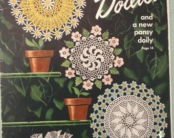 Crochet book, 1949 Flower Doilies