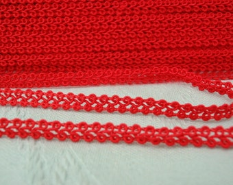 Over 9 yards Red Vintage exquisite and dainty trim