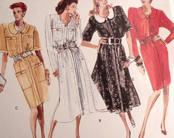 Misses and Misses Petite Dress  pattern, Uncut Vogue 2103 in size 14 and size 16 and size 18