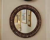 Round Mirror With Cowrie Shells