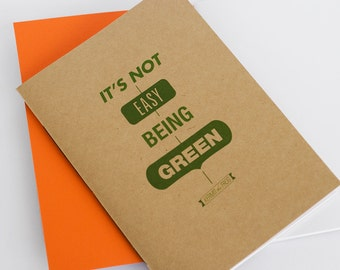 It's Not Easy Being Green Notebook