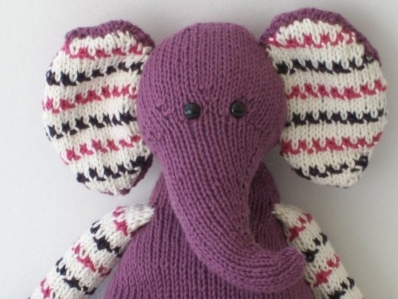 Pears the Elephant PDF knit pattern