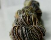 Saffron handspun yarn - 100 yards
