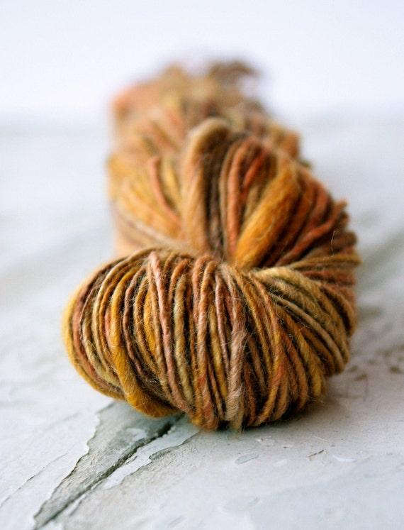 Fall handspun yarn -125 yards