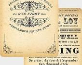 Steamside - Steampunk / Vintage Wedding Invitation Sample