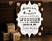 Calliope - Vintage / Carnival / Steampunk Wedding Invitation Sample