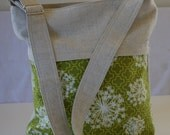Recycled Hemp and Recycled Organic Cotton purse with front zip pocket