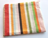 Reserved for Veronica (lumpish) - Large Zippered Pouch Clutch Cosmetic Purse Multi Coloured Stripe
