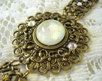 Creamy Sparkle Victorian Bracelet