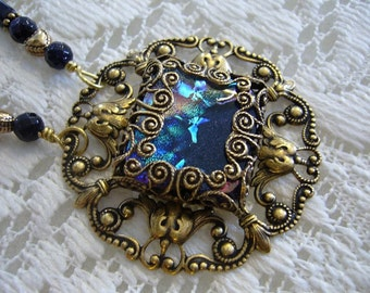 Window Of Color Victorian Pendant And Necklace