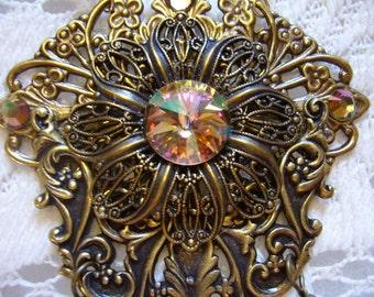 Purple Haze Swarovski Victorian Necklace Free Shipping In The USA