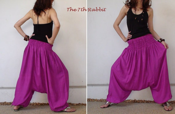 Harem Pant in Purple Pink
