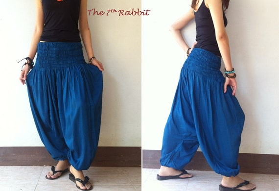 Harem Pant in Blue (2)