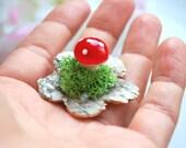 forest dream, red toadstool, woodland, nature, outdoor wedding, bridesmaids favor, bride, flower girls, tiny ring, kawaii, mushroom