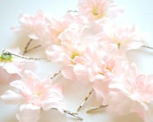 White with baby pink flowers-Set of 3 bobby pins-Weddings,accessories,bride, bridesmaids,flower girls,hair bobby pins