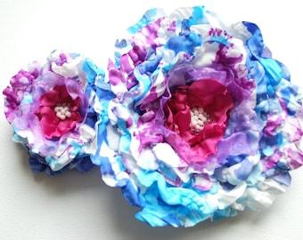 blue fuchsia white peony, weddings accessories, bridal blue hair flowers, bride hair clip, bridesmaids, brooch, comb, hair clip, corsage