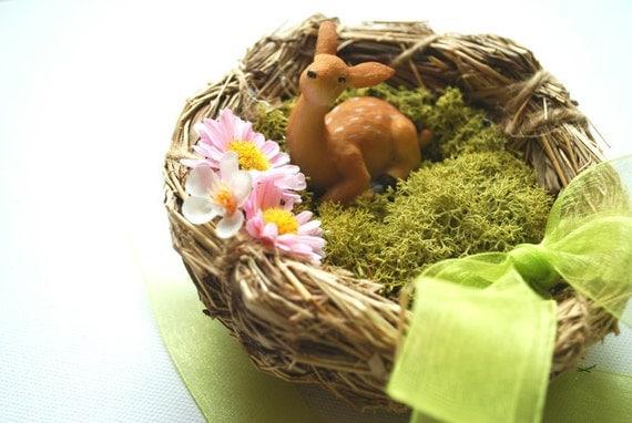 Little fawn-Deer-Weddings Accessories Decor Ring bearer pillow-Nature,woodland,rustic,vintage-Outdoor wedding Flower girl