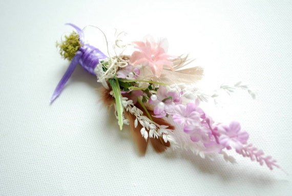 Lavender-Boutonniere-Brooch-Outdoor,woodland weddings-Nature pin-Groom,groomsmen