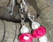 Candy Apple Red jade earrings