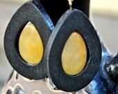 Wooden Raindrop Earrings