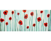 Abstract Poppies Commission by Kristen Dougherty