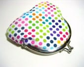 Polka Dotted Change Purse - Ready to Ship