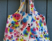 Handpainted Reusable Grocery Shopping Bag