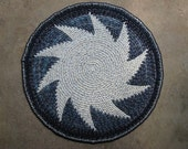 Amish Knot Wool Rag Rug