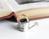 WATERING CAN - cute little sterling silver necklace