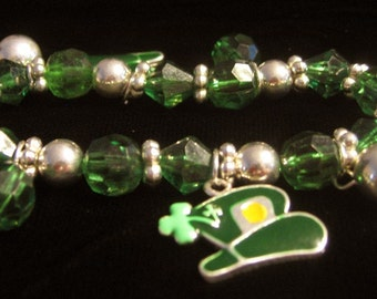Hats And Boot  Stretch Charm  Bracelet  Irish