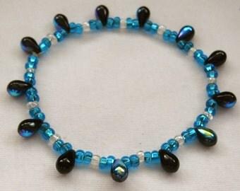 TEARDROP  Stretch BRACELET Beaded Jewelry