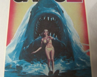 Vintage 1970's Jaws2  Iron On Transfer Movie