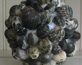 Nautical Seashell Ball Seashells  Nautical Decor Beach House Decor