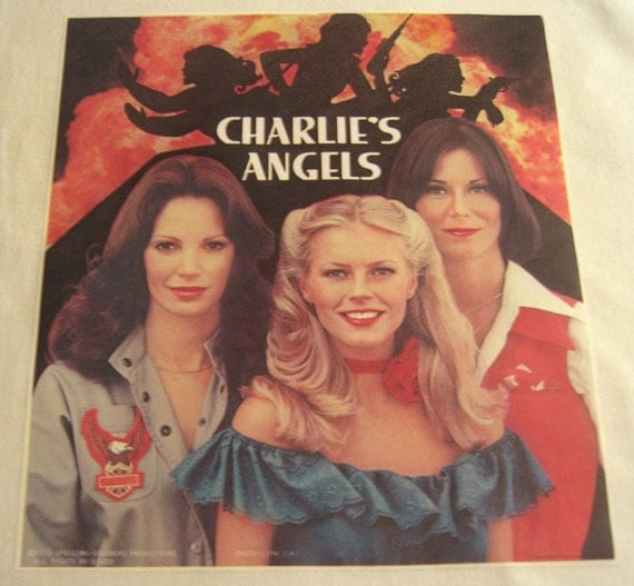 Vintage 1970 Charlies Angels Iron On Transfer TV Show