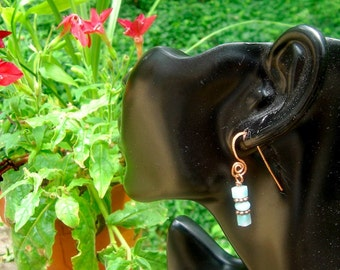 INTUITION copper and amazonite earrings