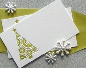 MINI CARDS Letterpress - 10PK Tree (TR02S10)