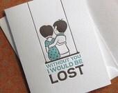 Lost - Single Letterpress Greeting(ED04)