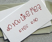 MINI CARDS - Letterpress Do You Valentines Day (VD02M)