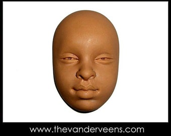 Mold No.27 (Face- African looking with open eyes) by Veronica Jeong