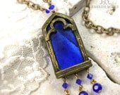 Arch of Aveyron - Stained Glass Window Necklace