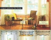 Vogue Pattern Window Treatments -  Scarf Drapes Valance and  Bay Window Scarf & Valance