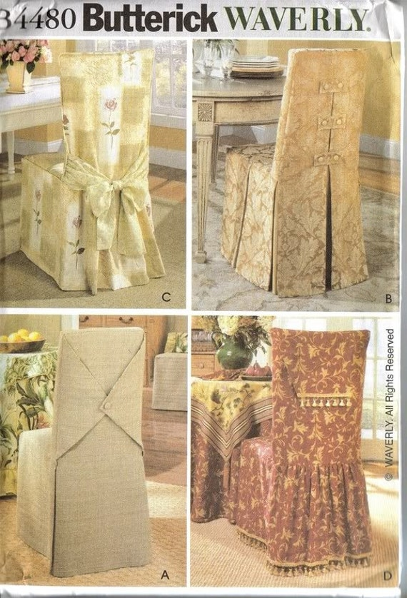 WAVERLY Pattern 4480 Chair Covers In 4 Styles Butterick Sewing